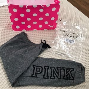 NWT PINK Victoria's Secret Everyday Lounge Jogger